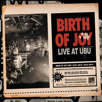 Birth of Joy Live at Ubu, 2015