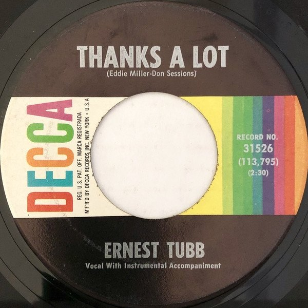 Ernest Tubb Thanks a Lot, 1964