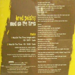 Brad Paisley Mud on the Tires, 2003