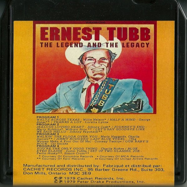 Ernest Tubb The Legend And The Legacy Vol. 1, 1979