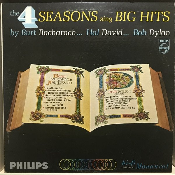 The Four Seasons The 4 Seasons Sing Big Hits by Burt Bacharach... Hal David... Bob Dylan..., 1965